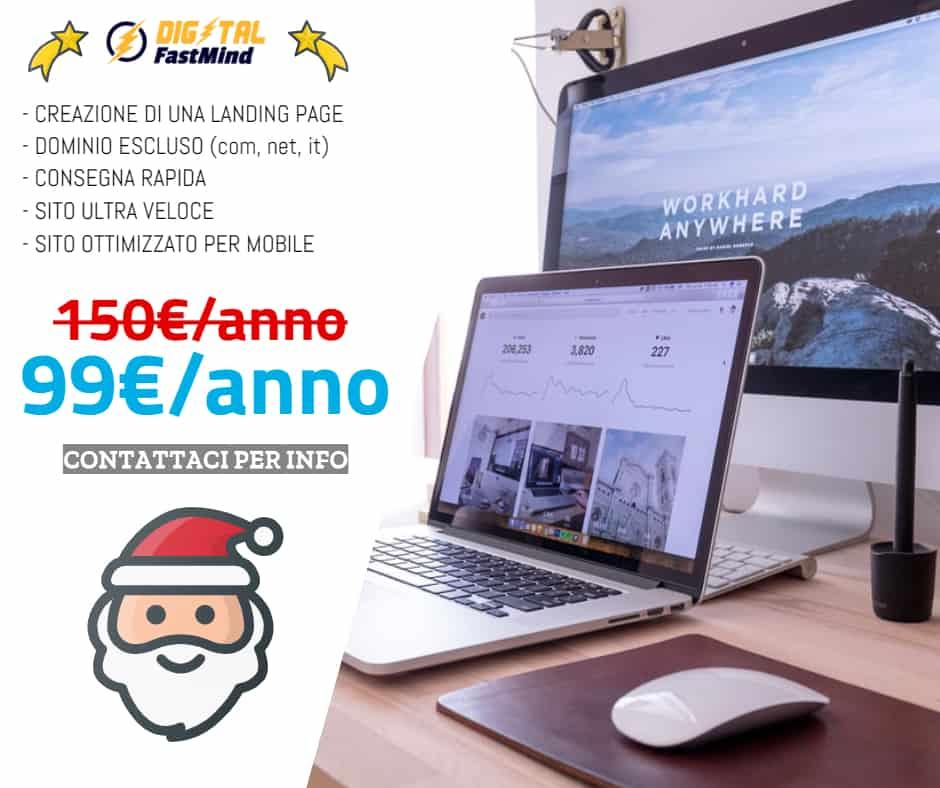 Promo natale Landing page